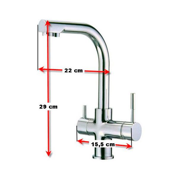 Grifo 3 vias para depuradoras de agua aqua y salud - Depuradoras de agua ...